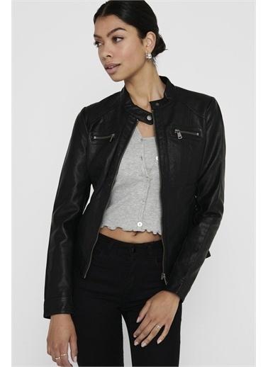 Only Deri Ceket Onlbandit Faux Leather Biker 15081400-Blk Siyah